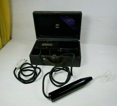 Antique Renu Life Violet Ray Electric High Frequency Generator 1919 U.S.A.