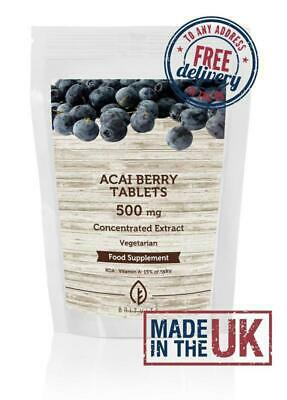 Acai Berry Extract 500mg Tablets GB BritVits Pills