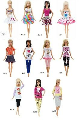 Doll Party Dress Gown Clothes For Barbie Princess Vintage Fashion Outfit Gift