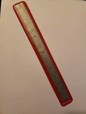 Vintage Starrett C316R 6 Inch Ruler starrett c 316 r rule excellent condition