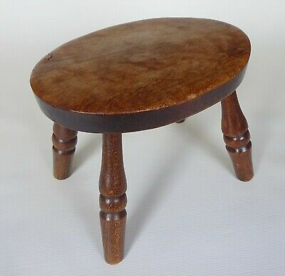 Charming Rustic Antique Splay Legged Milking / Child's Stool