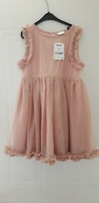 BNWT Next Girls Sparkly Pink Dress Age 3 - 4 Years