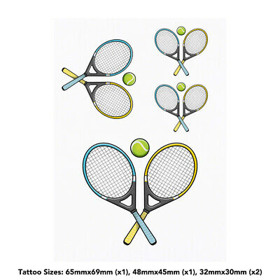 'Tennis' Temporary Tattoos (TO023511)