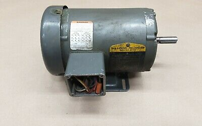 Baldor Reliance M3542 3/4 Hp Electric Motor 3 Phase Shank #14A32Pr2