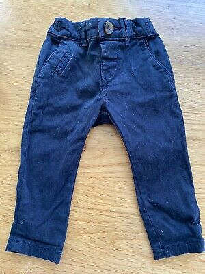 Baby Boys Navy Chino Trousers 3-6 months Next