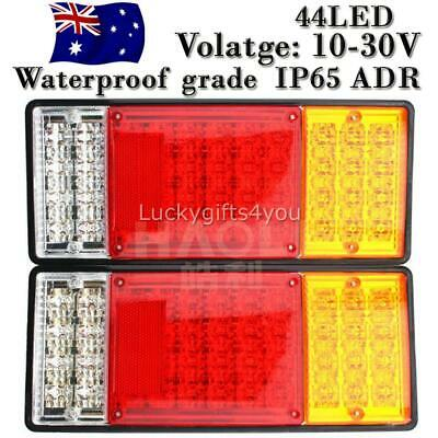 2PCS 10-30V Tail Lights Ute Trailer Caravan Truck Stop Indicator rear LAMP AU