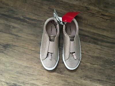 Girls rose gold trainer (size 2)
