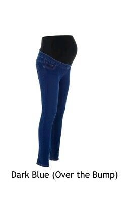"""Maternity New Look Jeggings Jeans DARK BLUE Over The Bump Sizes 12 leg 26"""""""