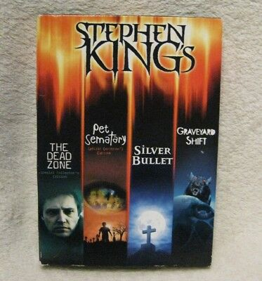 The Stephen King Collection DVD 2013 4-Disc Set USA R1 SILVER BULLET dead zone +
