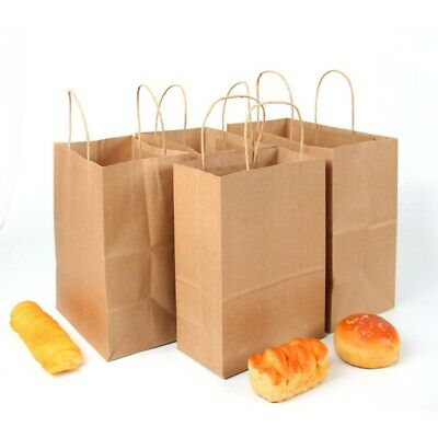 Party Bags Kraft Paper Gift Bag Twisted Handles Recyclable Loot Wedding - Medium