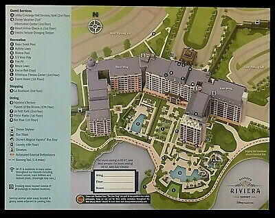 NEW 2020 Walt Disney World Riveria Resort Map + 5 Theme Park Guide Maps