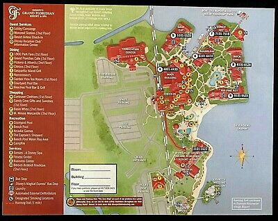 NEW 2020 Walt Disney World Grand Floridian Resort Map + 5 Theme Park Guide Maps