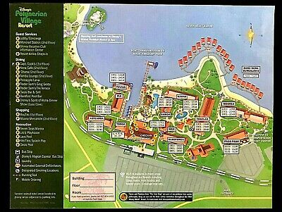 NEW 2020 Walt Disney World Polynesian Resort Map + 5 Theme Park Guide Maps