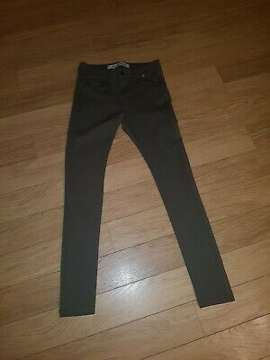 Denim & Co Soft Green  skinny Jeans Size 8