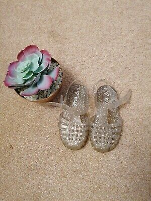 Next Girls Clear/glitter Jelly Shoes Size 7