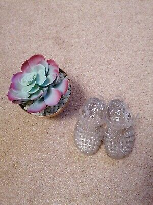 Next Clear/glitter Jelly Shoes Girls Size 3
