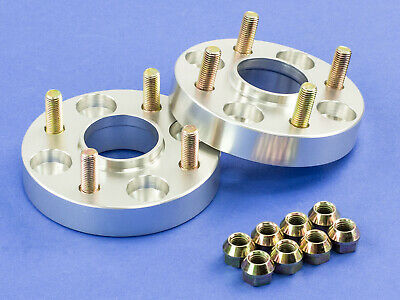 """15MM (1/2"""")   Silver Hubcentric Wheel Spacers   Mitsubishi 4x100   56.1   12x1.5"""