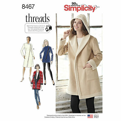 Simplicity Sewing Pattern 8890 Misses Trench Coat Jacket and Slip Dress