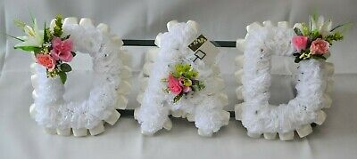 DAD Pink Artificial Funeral Flowers Silk Tribute Standard Delivery