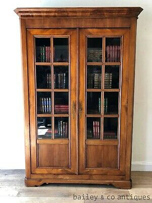 Antique French Bookcase Vitrine Armoire Louis Philippe Style - PQ046