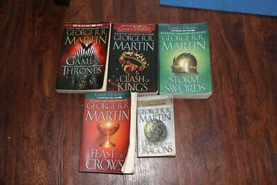 """Lot of 5 Paperback """"Game of Thrones"""" Series George R. R. Martin"""