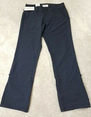 Mountain Khakis~Women's Sz 6P Petite~Black Relaxed Fit Stretch Pants Roll-Up NWT