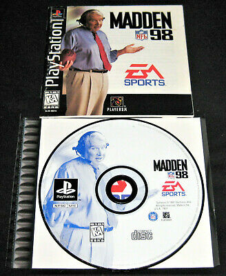 Madden NFL 98 (Sony PlayStation 1, PS1, 1997) Complete w/o Case
