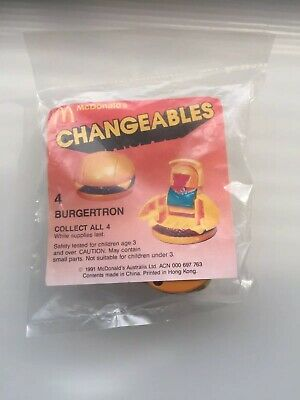 Vintage McDonald's  Changeables Transformer Toy (1991) Burgertron New In Pack