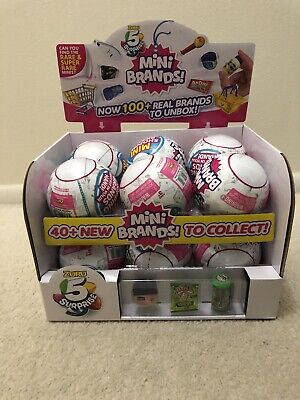Brand New Zuru 5 SURPRISE! Mini Brands Full Case Of 12 Balls Free Fed Ex Ship