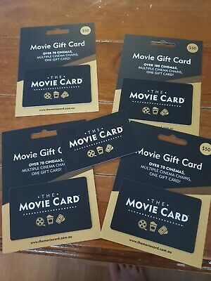 The Movie Card $250 Gift Card UNWANTED GIFT 5 x $50 cards
