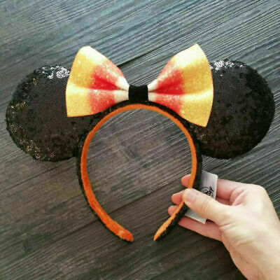 NEW Disney Parks 2020 Candy Corn Bow Minnie Mouse Ears Headband Hat