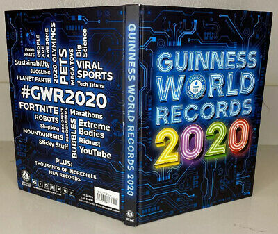 Guinness World Records 2020 Hardcover 256 pages Fun Facts Book