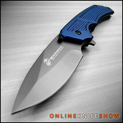 MTECH USMC MARINES Spring TACTICAL MILITARY Assisted Opening Pocket Knife Blade