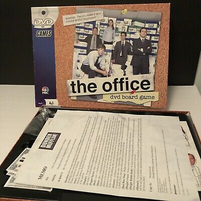 The Office DVD Trivia Board Game Dunder Mifflin  2008 NBC Complete Used