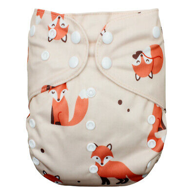 CATHYBABY Big Size Cloth Diapers Adjustable Reusable Double Gusset Pocket Nappy