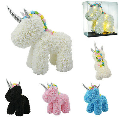 Unicorn Colorful Foam Rose Artificial Flowers Valentine's Day Birthday Day Gift