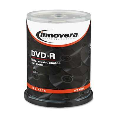 Innovera® DVD-R Discs, 4.7GB, 16x, Spindle, Silver, 100/Pack 686024468905