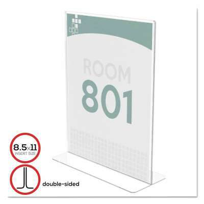 deflecto® Superior Image Stand-Up Double-Sided Sign Holder, Plast 079916590080