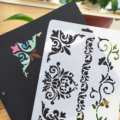 Plastic Layering Stencils Template DIY Painting Scrapbooking Tool Flowers Supply