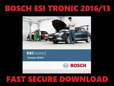 🔥Bosch ESI TRONIC 2013+2016 🔥 SOFTWARE FULL DVD🔥 Electrical Diagrams OBD2 🔥