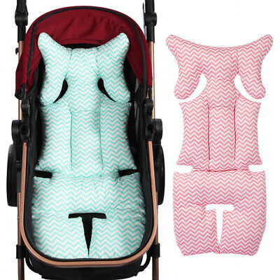 Baby Infant Stroller Mat Wavy Stripe Print Soft Thick Pushchair Cushion Apt
