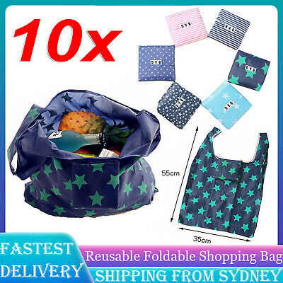 Nylon Reusable Foldable Recycle Grocery Shopping Carry Bags Tote Handbags Eco