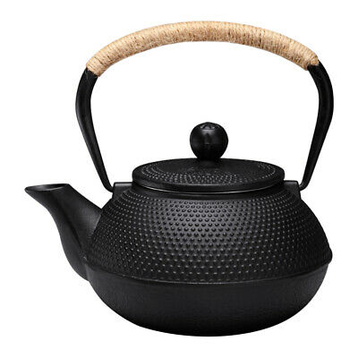 Japanese Style Teapot  0.3 0.6 0.9 1.2 L Tetsubin Cast Iron Tea Pot Kettle Black