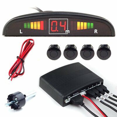 Car LED Parking Sensor System 4 Black sensors Reversing Reverse Alarm buzzer uk