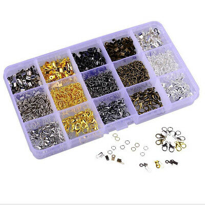 1600pcs Jewelry Findings Kit Supplies Jump Ring Lobster Clasp For Jewrlry Pretty