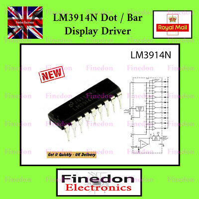 LM3914N DOT/BAR DISPLAY DRIVER IC UK Seller