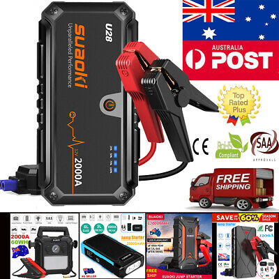 Suaoki Car Jump Starter Pack Booster Emergency Battery Charger USB Power Bank