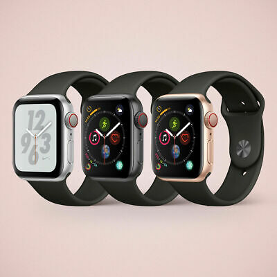 Apple watch Series 3, Series 4 in 38mm| 42mm | 44mm GPS+ 4G LTE Aluminium Case