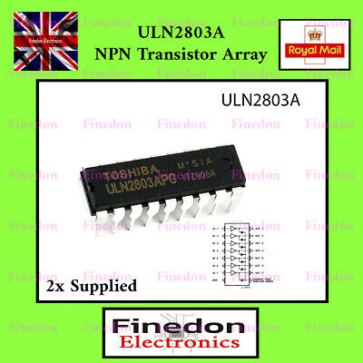 2 Pcs ULN2803A TOSHIBA Darlington Array IC UK Seller