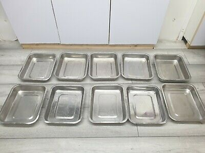 10 Butchers Stainless Steel Trays